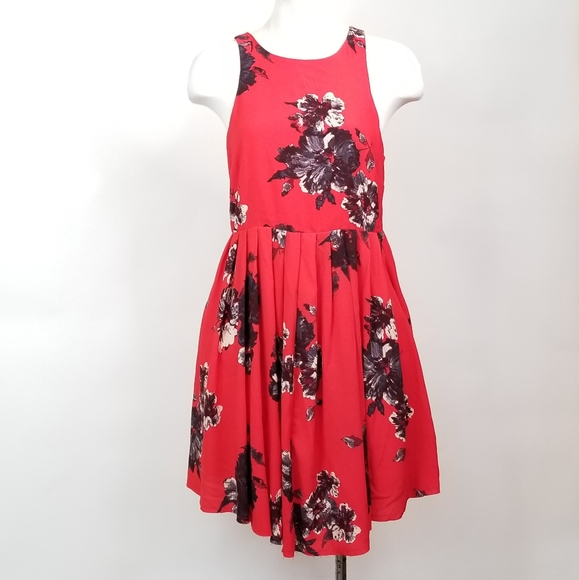Free People Dresses & Skirts - Red Floral Free People Sun Dress
